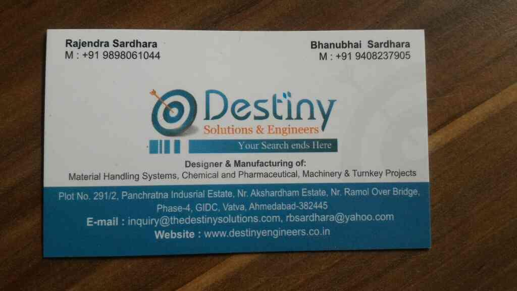 we are one of the leading manufacturer and exporters of chemical plants, pharmaceutical plants, machinery and turnkey projects in india  - by Destiny Solutions And Engineers , Ahmedabad