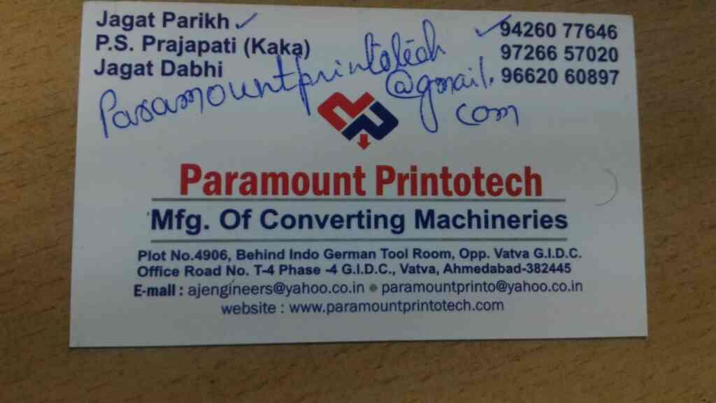 Plz contact for best quality and best material products of Roto gravure printing machine   for more details  www.paramountprintotech.com - by PARAMOUNT PRINTOTECH , Ahmedabad