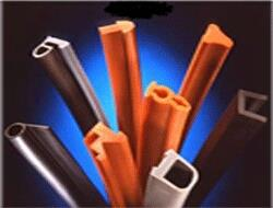 Rubber Extrusions  Our Rubber Extrusion Department Extrudes Rubber Tubings, cords, channels, profiles, fenders, hoses, curtain wall etc. of any custom design to your specification.  Rubber Extrusion in Vadodara, Gujarat, India.   Rubber E - by Industrial Moulders, Vadodara