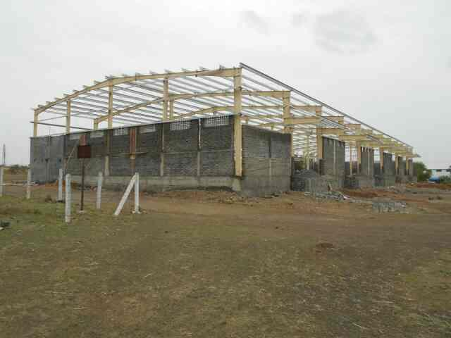 PEB Erection work in progress  - by PEB Metal Buildings Pvt. Ltd., Pune