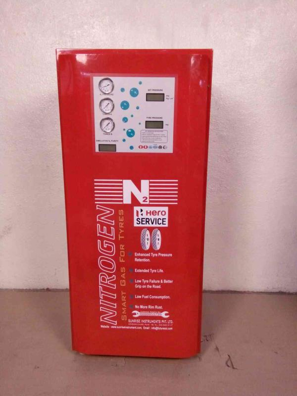 we are manufacturer for Nitrogen tyre inflator for hero motocorp - by Sunrise Instruments Pvt Ltd, Pune