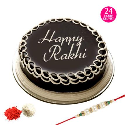 Online Raksha Bandhan Cake In Moti Bagh Delhi. Online Raksha Bandhan Cake In Green Park Delhi. Online Raksha Bandhan Cake In Mayapuri Delhi.  Raksha Bandhan Cake is specially made for this special day where you can show your immense love to - by Chocolate Temptation +91-9871119902, New Delhi