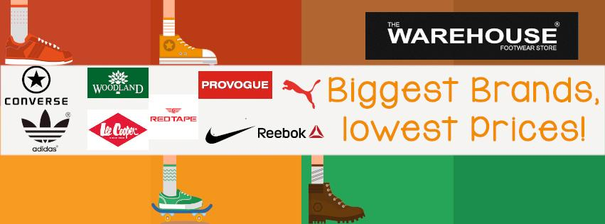 Biggest Brands, Lowest Prices... All ORIGINAL. @ Warehouse Ahmedabad  - by THE WAREHOUSE FOOTWARE STORE, Ahmedabad