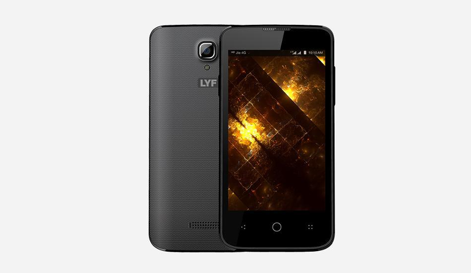 LYF Flame 5 with 4G VoLTE launched  It comes with a 1.5 GHz quad-core processor, 512MB of RAM and Mali 400 MP2 GPU. The smartphone runs on Android Lollipop 5.1 operating system and comes with 4GB of internal storage, which is expandable by - by MAHAVIR MOBILE STORE, Ahmedabad