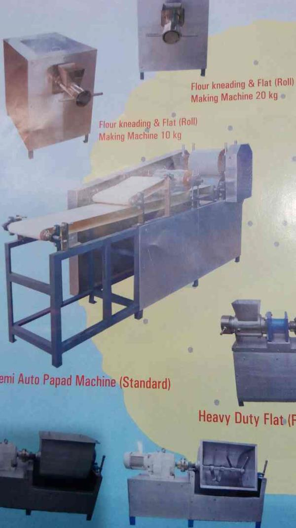 we are also manufacturing of roti puri chapati chatpuri sevpuri samosa patti making machinery - by Gayatri Engineering Works, Vitthal Udyognagar INA