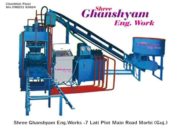 we are leading manufacturer of fully automatic fly ash bricks making machine - by Shree Ghanshyam Engineering Works, 7, Lati Plot. Morbi