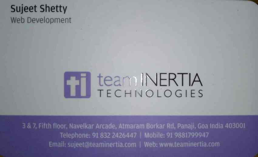 Best web designing in goa - by Team Inertia Technologies, Panaji