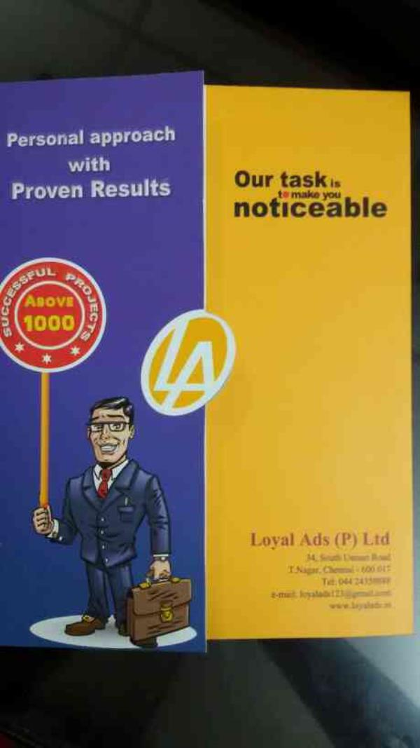 OUTDOOR AD AGENCY.  We are the Best Outdoor Ad Agency in Chennai. We are Doing All Kinds of Ads in outdoor Section for all Companies to enlarge your Brand as Brand Promotion. - by Loyal Ads ( P ) Ltd , Chennai