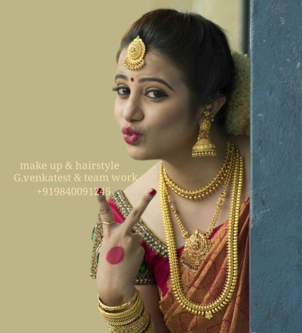 Want to Look beautiful on your wedding day ? Call us @ +91 9840091245 , +91 7200820492 When you plan your make-up think about the camera.  You don´t want to look too chalky or pasty.Only an expert makeup artist can help to bring a bridge be - by Top wedding Makeup Artist Chennai +919840091245, Chennai