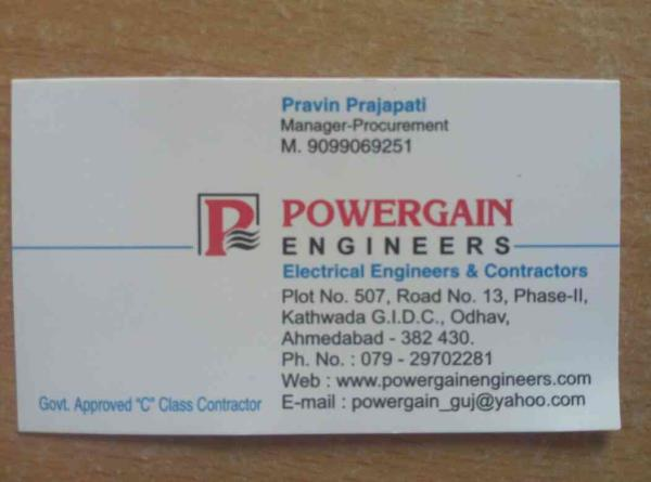 turnkey electrical contractor in. AHMEDABAD  - by Powergain Engineers, Ahmadabad