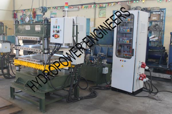 We manufacture Rubber Moulding Press, Hot press, Bangalore INDIA. Special Moulding, Profile Moulding, Glouse moulding Logo Moulding etc. - by Hydropower Engineers, Bengaluru