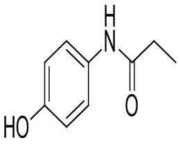 Acetaminophen Related Compound B Acetaminophen Related Compound B Synonyms : 	N-(4-hydroxyphenyl)propionamide Chemical name : 	N-(4-hydroxyphenyl)propionamide Molecular weight : 	165.19 CAS no : 	1693-37-4 Molecular Formula : 	C9H11NO2  FOR - by Sai Traders, Ahmedabad