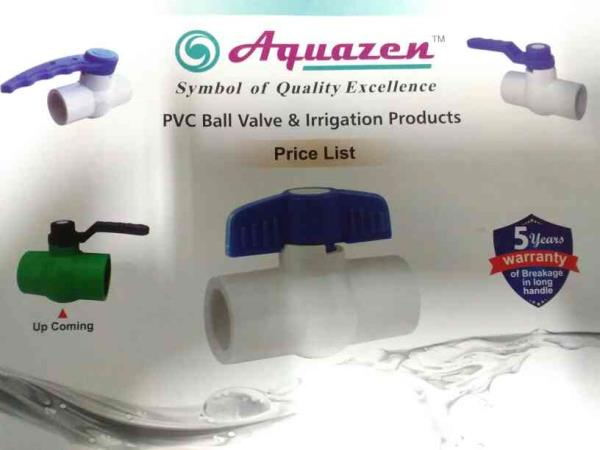 Aquazen Polytech provides you best quality PVC Ball Valve and irrigation products in Ahmedabad India - by Aquazen Polytech , Ahmedabad