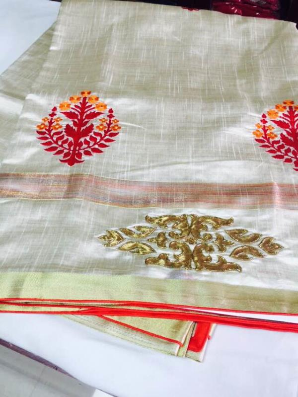 Tasaar silk in the boutique .step in for more choices .. - by VI VI MOTIFS MADURAI, Madurai
