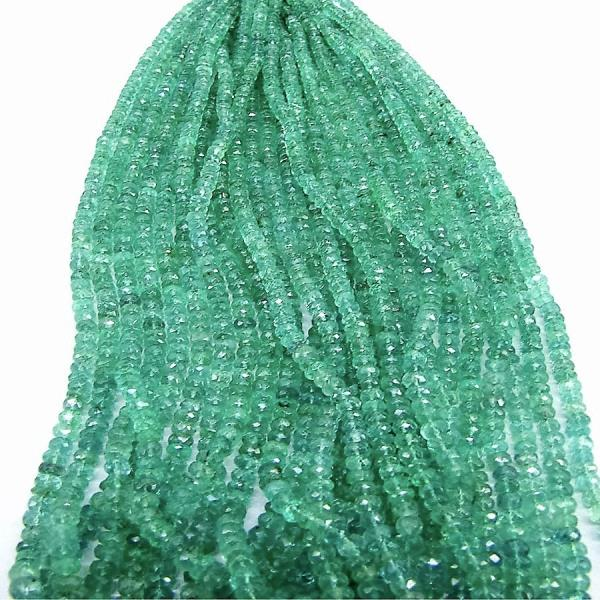 Emerald Beads Available in various quality in both smooth and faceted - by GemsBiz - A Manufacturing Company of Fine Quality Gemstones, Beads and Gold-Silver Jewelry, Jaipur