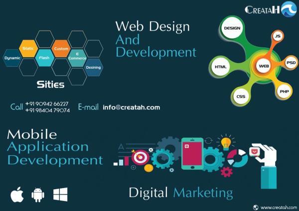 Web designing company in chennai, expert in static web design, dynamic web design, web and mobile application development .. - by Creatah, Chennai