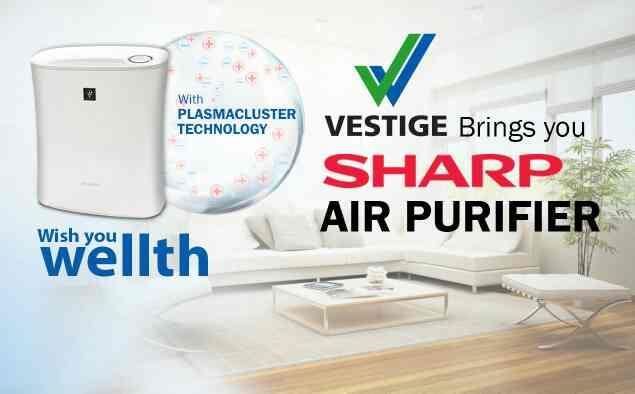 """Buy air purifier  Product Description Vestige brings you best air purifier India from SHARP Electronics with PLASMA-CLUSTER TECHNOLOGY, which replicate NATURE indoors thus creating a Safe, Pure and Fresh environment like in a Forest.  """"INDO - by G2G Shop, New Delhi"""