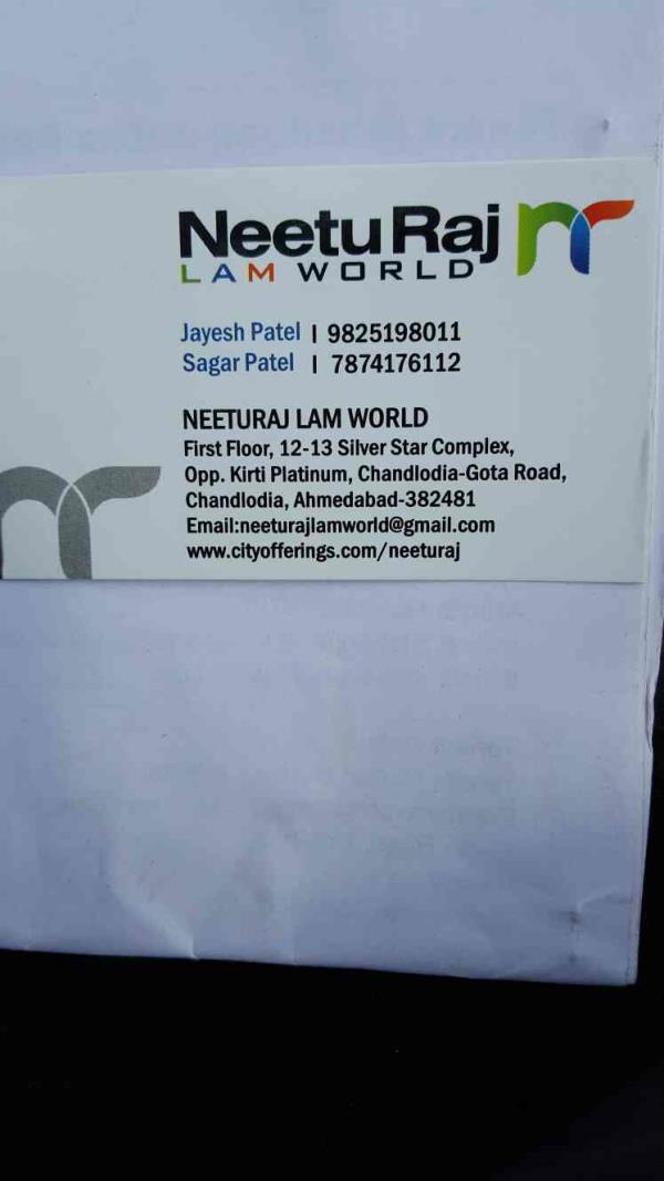 Neetu Raj Lam World is one of the premier dealers of World class laminated sheets and plywood in Ahmedabad city of Gujarat state.  for more info visit our web:: www.cityofferings.com/neeturaj - by Neetu Raj Lam World, Ahmedabad