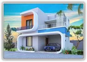 Individual Villas In Coimbatore Located in Narasimhanaickenpalayam, Beautifully located villa having ample space for car parking and clean surroundings with good ventilation for sunlight and air. This prestigious villa having all its luxury - by Kkbuilderscbe, Coimbatore