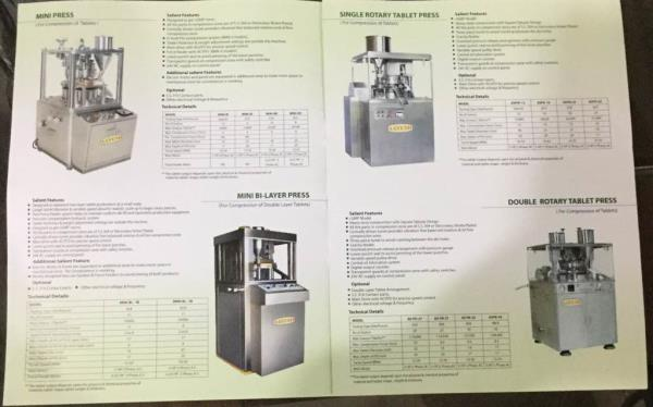 Pharmaceutical tablet machine   We have customised and wide range products in pharmaceutical machinery as like Mini Tablet Press, Mini bi later press machine, single rotary tablet press machines..... - by AAYUSH TECHNO PVT LTD, Ahmedabad