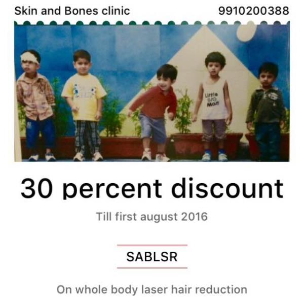Avail Monsoon discount for whole body Laser Hair Removal this July Contact 9910200388 Skin And Bones Clinic - by Skin & Bones Clinic, New Delhi