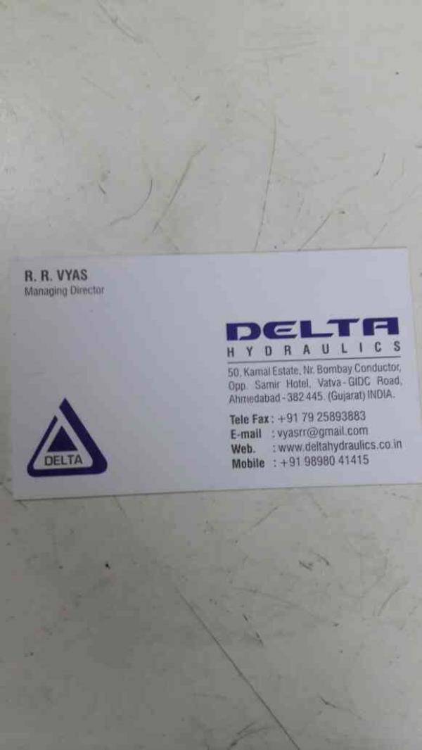 This is our Visiting Card - by Delta Hydraulics, Ahmedabad