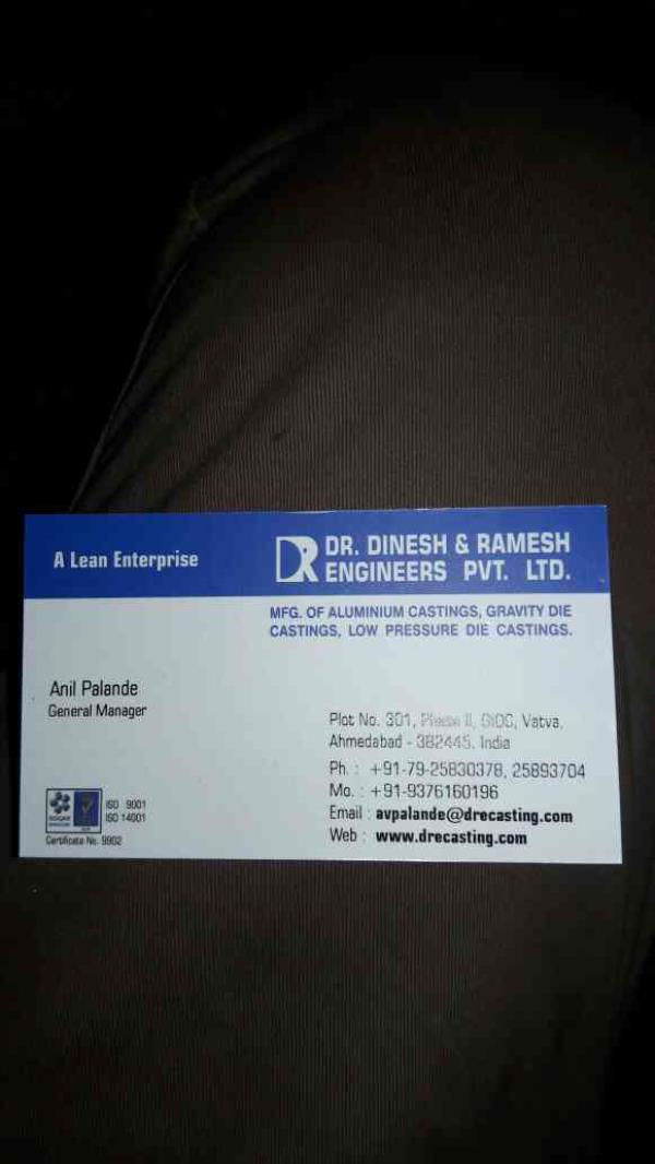 This is our Visiting Card - by Dr Dinesh & Ramesh Engineers Pvt Ltd, Ahmedabad