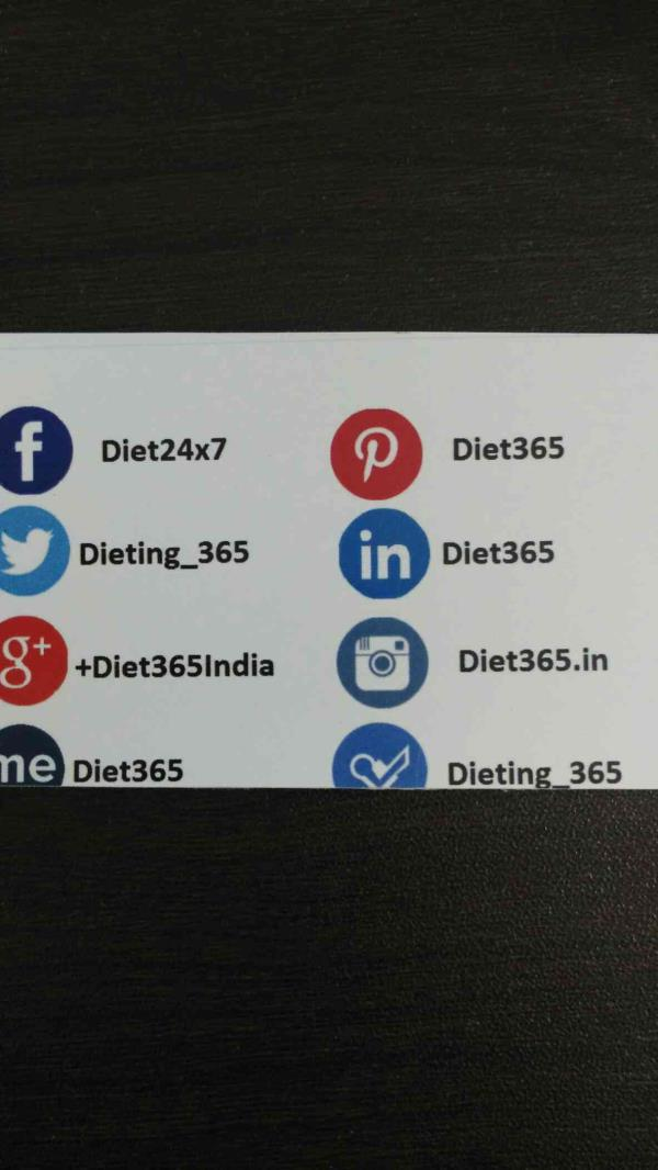 Consultant diet adviser in indore - by Diet365, Indore