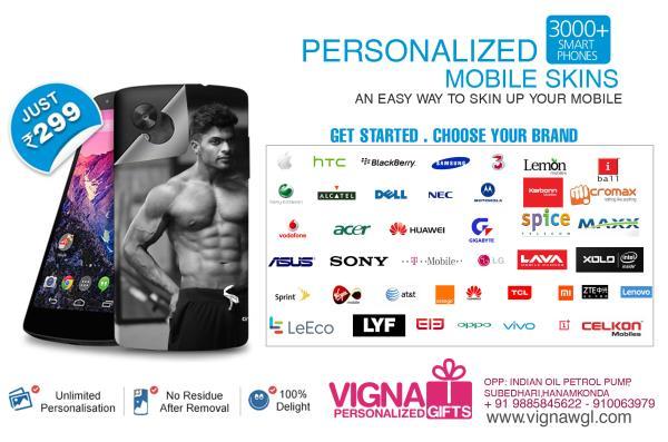 mobile skins - by VIGNA PHOTOGRAPHY & PERSONALIZED GIFTS, Warangal,hanamkonda,Hyderabad