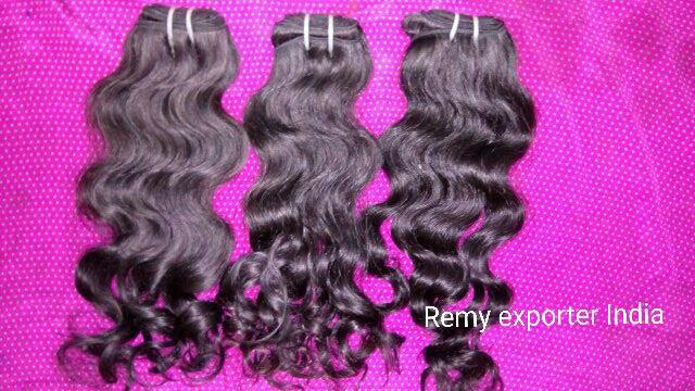 human hair   Indian hair from temples  high quality very good worked for hair weave - by Remy Exporters, Chennai
