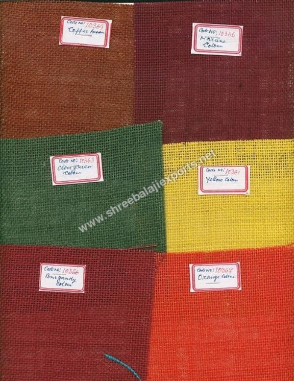 Exporter of Colored Hessian in Kolkata. we are a well recognized manufacturers and Exporters of a quality range of Jute Bags. - by TIRUPATI INTERNATIONAL, Calcutta