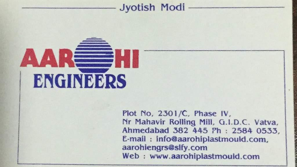 Plz contact for any kind of mouldings die work - by AAROHI ENGINEERS ,  Ahmedabad