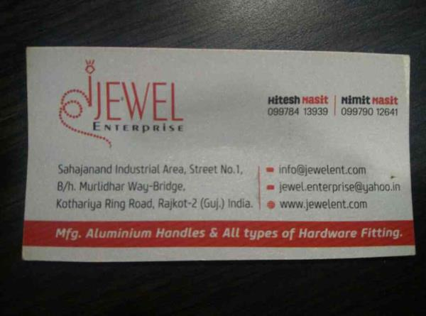 We are leading manufacturer cabinet handle and other hardware products from rajkot - by Jewel Enterprise , Rajkot