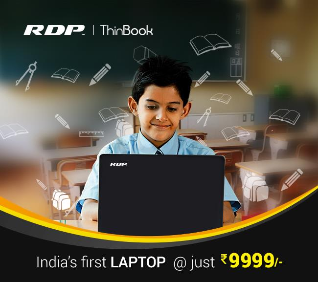 """RDP Thin Book - India's First laptop for 9999/-   Laptops in Mumbai   Laptops in Hyderabad   Laptops in Chennai  RDP has  launched India's first ultra slim Laptop Named as """"ThinBook"""". This Gizmo is a Kind of Disruption in traditional laptop - by RDP, Mumbai"""