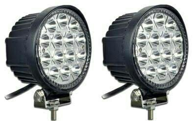 LED driving lights are featured with solid aluminum covers which are said to be able cope with most demanding driving conditions with best performance of waterproof, dustproof, quakeproof, anti-corrosion and in heat dissipation - by Kesha Lighting, Vadodara