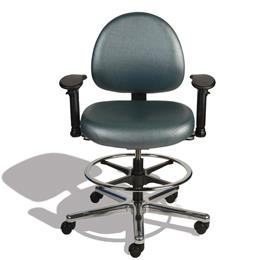 ESD Chairs We make ESD Chairs with or without arm rest, the premium quality chairs are suitable for any class of a cleanrooms   These chairs are designed for comfort and durability  - by Kinetic Polymers, Hyderabad
