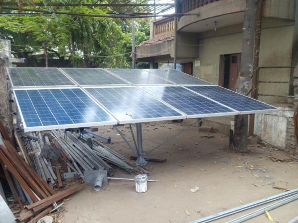 Solar panel mounting structure for solar Submercibal pump , 2 , 3 , 5 & 7.5 hp pump set @ 5.5₹/watt  - by Esso Fab Tech Pvt Ltd., Ahmedabad