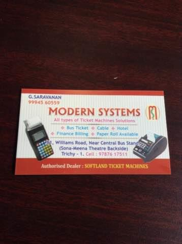 We are the best Bus ticket Billing Machines dealers in Trichy - by Modern Systems, Tiruchirappalli