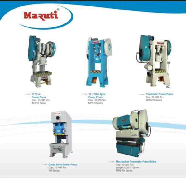 we are leading manufacturer and supplier of power press machine, Press break machine, Shearing machine in rajkot.  - by Maruti Machine Tools, Rajkot