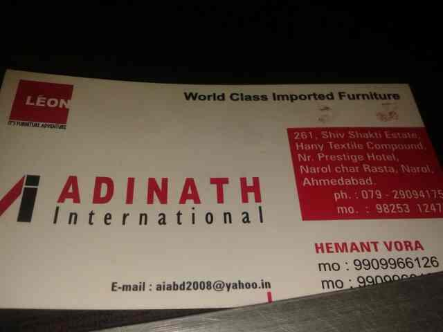 we aew.manufacture of all type od furniture in ahmedabad . - by Adinath International, Ahmedabad
