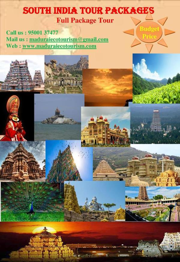 TAMILNADU EDUCATIONAL TRIPS / BUDGET PACKAGE TOUR Welcome to Madurai Eco Tourism, One of The Best Eco Friendly Tour Provider in India. We organize School Trip/ Field Trip for Students to Provide them Knowledge About nature, communities, exo - by Southindian Eco Tourism, Madurai