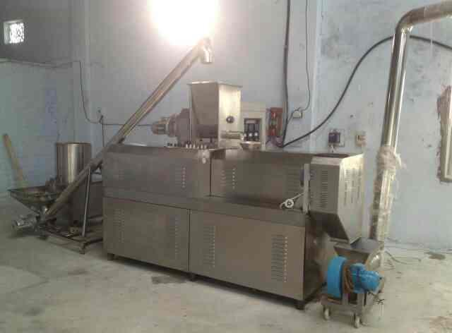Twin screw extruder manufecturer Suplier in India for making Snacks cheese ball Ring Star Heart Puff  - by Macaroni Pasta Machine Manufecturer, New Delhi