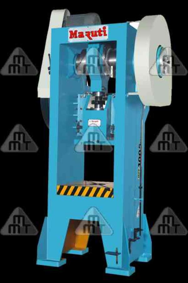 Pillar Type Power Press  Our Pillar Type Power Press has been designed for continuous production & accuracy. The frame is of solid steel fabricated with suitable cross ribbing. The clutch is of rolling key type & gives continuous strokes fo - by Maruti Machine Tools, Rajkot