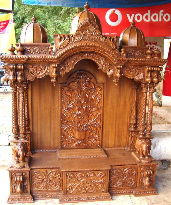 manufacturer in Jaipur wooden carving Temple in tick wood we have so many types of temple  - by Wooden craving art temple, Jaipur