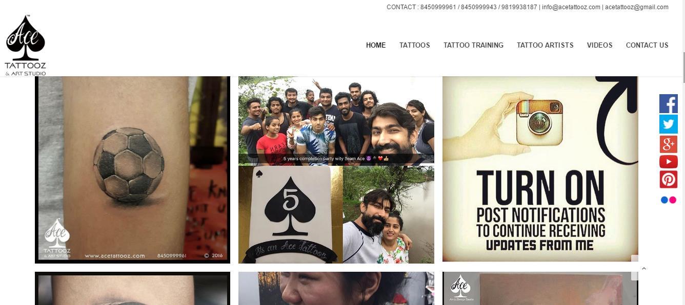 ACE Tattooz & Art Studio is THE BEST TATTOO STUDIO IN MUMBAI.  Just Visit at http://acetattooz.com/  Also Follow us in FB at https://www.facebook.com/Aceta2z/?fref=ts - by Ace Tattooz, Mumbai