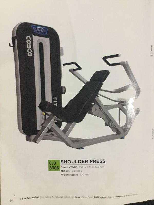 Shoulders press health equipment  - by Calibar Gym Equipment, Ahmedabad