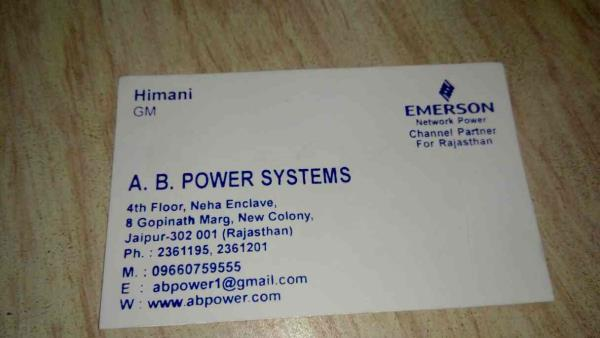 a b power systems deal in Emerson make ups - by A.B.Power Systems, Jaipur