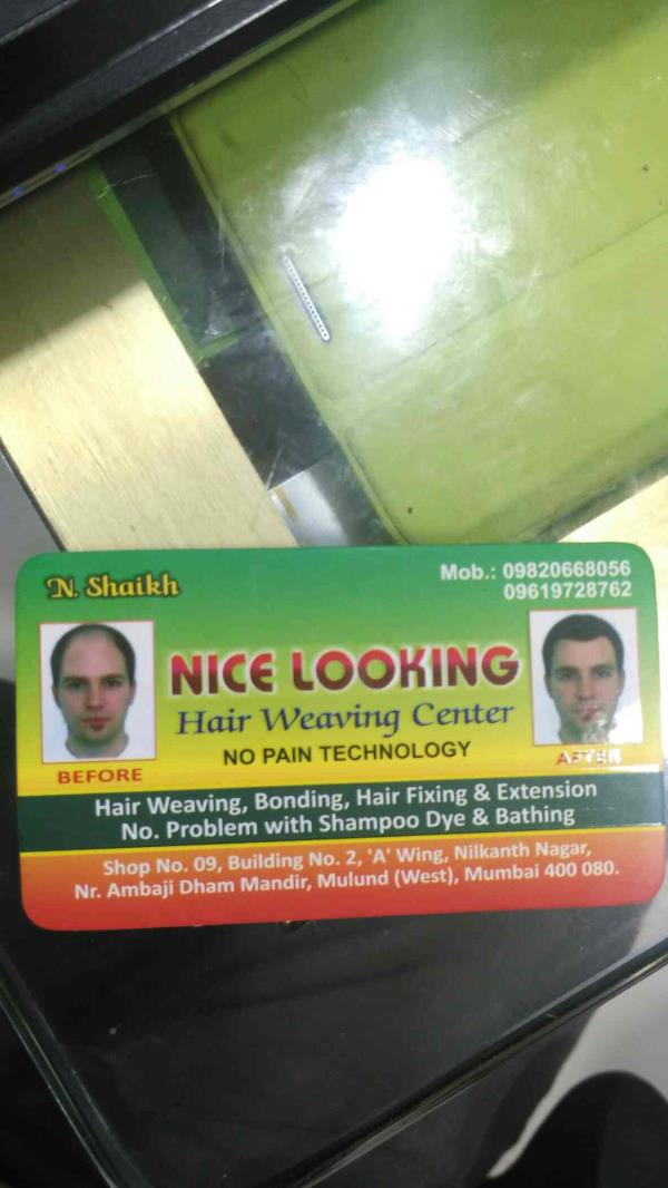 Hair weaving services centre in mulund west - by Nice Looking Hair Weaving Centre, Mulund West