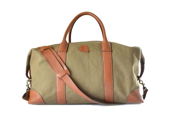 Duffel Bag Duffel Bag canvas and leather - by Deramart, Chennai