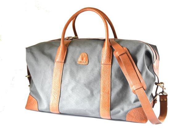 Duffel Bag Canvas and Leather Duffel Bag - by Deramart, Chennai